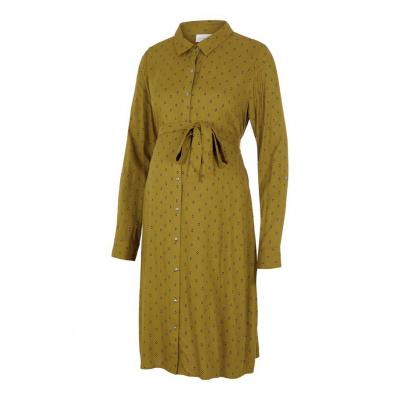 Mercy blouse jurk Mamalicious nutria aop