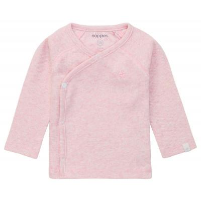 Nanyuki rib overslag shirt Noppies NOS light rose melange
