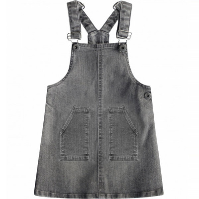 Your Wishes Denim Pinafore Tuin-rok girls grey