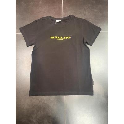 T-shirt rug print steden BALLIN zwart