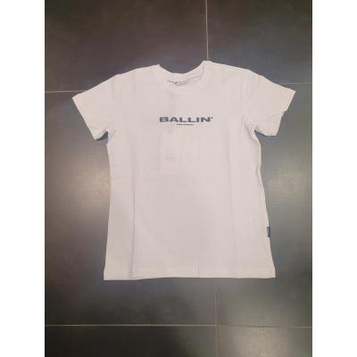 T-shirt rug print steden BALLIN wit