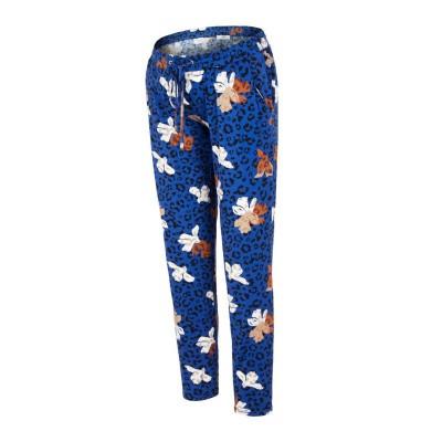 Cilja jersey broek Mamalicious dazzling blue/leopard