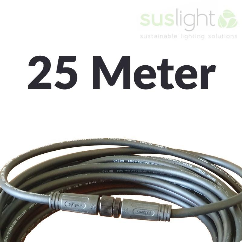 25 Meter - Q-S Connect 2 Aderig Stroomkabels 24V