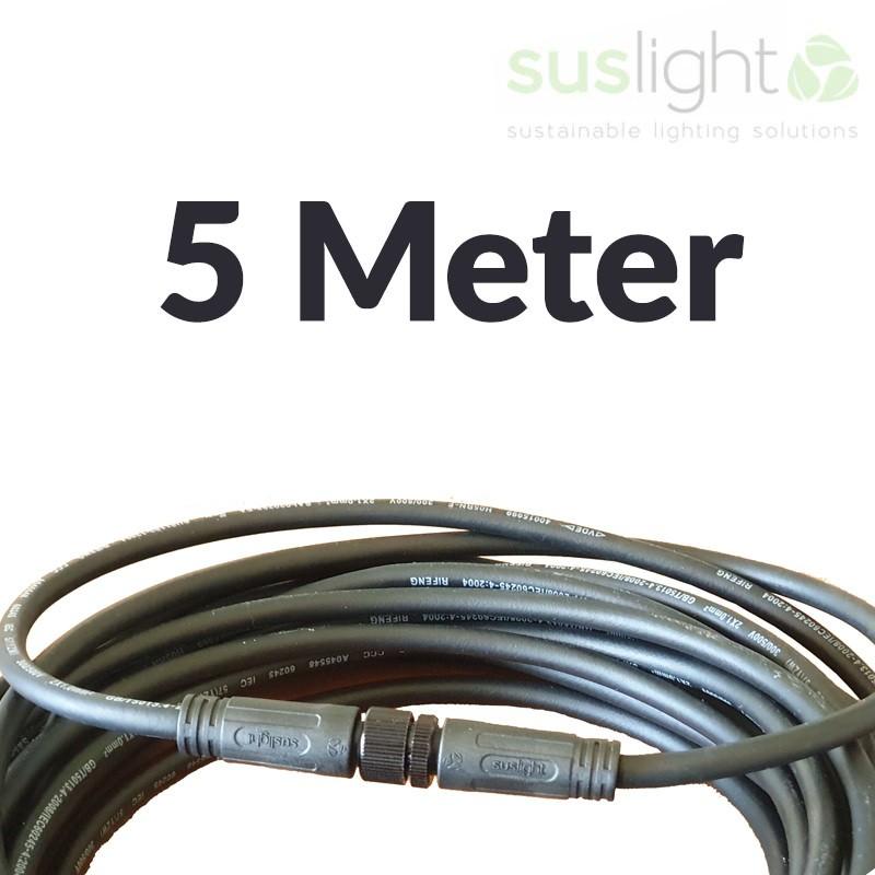 5 Meter - Q-S Connect 2 Aderig Stroomkabels 24V