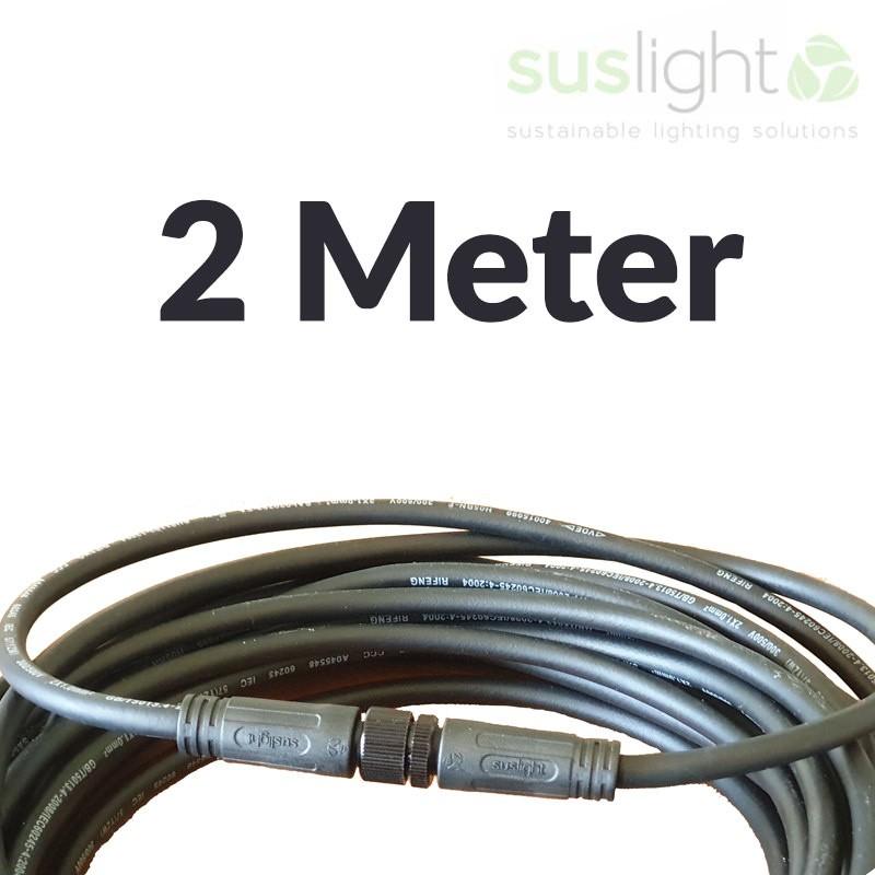 2 Meter - Q-S Connect 2 Aderig Stroomkabels 24V