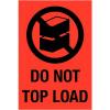 Foto van Waarschuwingsetiket 'do not topload'