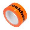 Foto van PVC tape 50 mm x 66 mtr. breekbaar-fragile - oranje/fluor-zwart