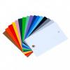 Foto van PVC labels aqua blauw - 64 x 118 mm