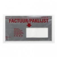 Paklijstenveloppen 225 x 122 mm zilver - 9-talen venster R. DL