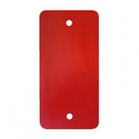 PVC labels rood - 64 x 118 mm