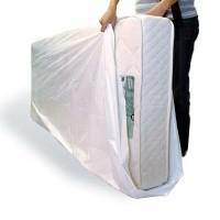Plastic matrashoezen 114 x 225 cm - LDPE wit 50 my