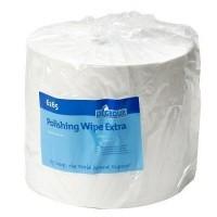 Poetsdoeken wit visc-polye. 29 x 40 cm rol 500 st.