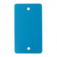 PVC labels lichtblauw - 64 x 118 mm