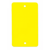 PVC labels geel - 64 x 118 mm