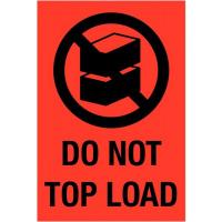 Waarschuwingsetiket 'do not topload'