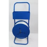 Haspelwagen verrijdbaar, blauw PP- en pol.band