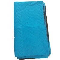 Verhuisdekens 180 x 200 cm - Quilted blauw-zwart 2200 gr.