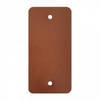 PVC labels bruin - 64 x 118 mm