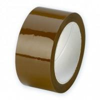 PP Acryl tape bruin 'triple PPA' - 50 mm x 66 mtr. (32 my)