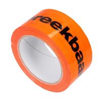 PVC tape 50 mm x 66 mtr. breekbaar-fragile - oranje/fluor-zwart