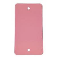 PVC labels roze - 64 x 118 mm