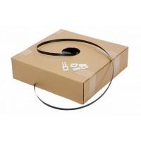 PP Omsnoeringsband zwart 12 mm x 0,55 mm x 1000 mtr. - dispenserdoos