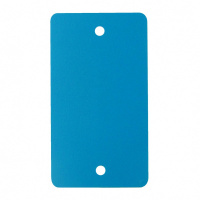PVC labels aqua blauw - 54 x 108 mm