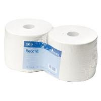 Industriepapier wit gerecycl. 2-laags 24 cm x 380 mtr.