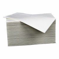 Gevouwen handdoekjes Z-vorm papier - 21 x 25 cm wit