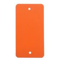 PVC labels oranje - 64 x 118 mm