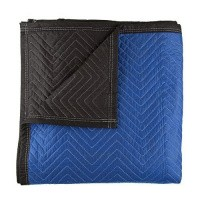 Verhuisdekens 180 x 203 cm - Quilted blauw-zwart 2100 gr.