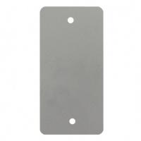 PVC labels grijs - 64 x 118 mm