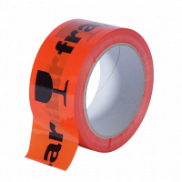 Breekbaar PP tape oranje - 48 mm x 66 mtr. Breekbaar-Fragile