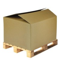 Palletdoos dubbelgolf - 1180 x 980 x 800 mm