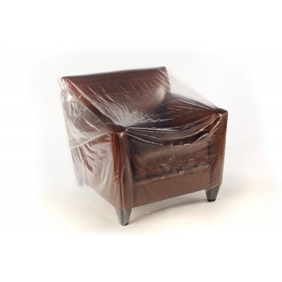 Foto van Plastic meubelhoezen 200 x 130 cm - LDPE transparant 50 my