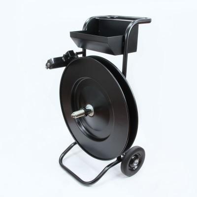 Afbeelding van Haspelwagen verrijdbaar zwart, PET- en Staalband AW