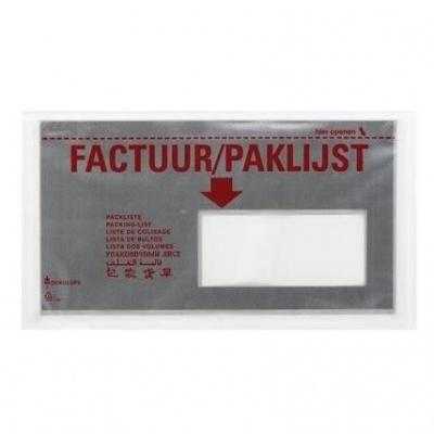 Foto van Paklijstenveloppen 225 x 122 mm zilver - 9-talen venster R. DL