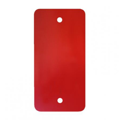 Foto van PVC labels rood - 64 x 118 mm