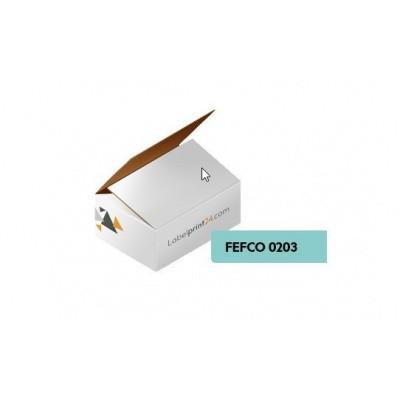 Foto van Vouwdoos fefco 0203 wit enkelgolf - 300 x 100 x 300 mm