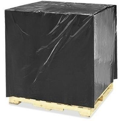 Foto van Pallethoes LDPE zwart - 136 x (2 x 47) x 310 cm x 42 my