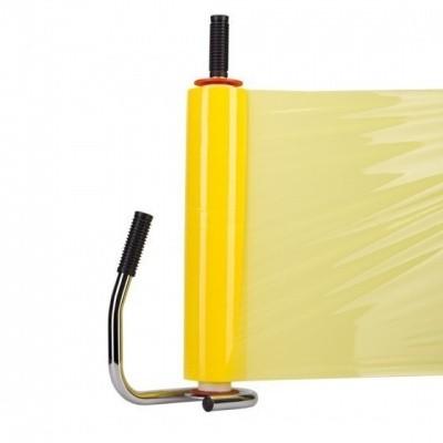 Foto van Handwikkelfolie geel - 50cm x 200mtr. x 30my
