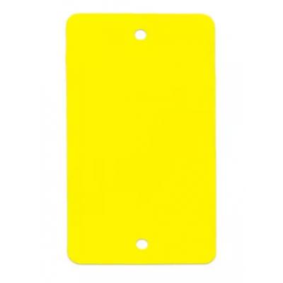 Foto van PVC labels geel - 64 x 118 mm