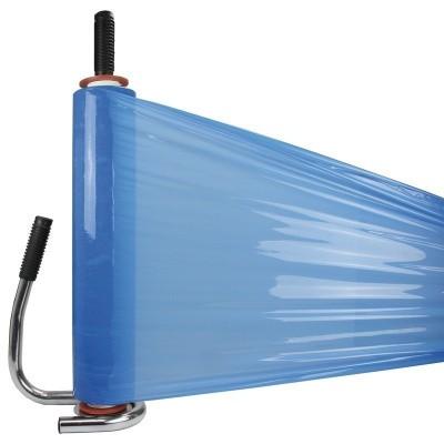 Foto van Handwikkelfolie blauw - 50cm x 300mtr. x 20my