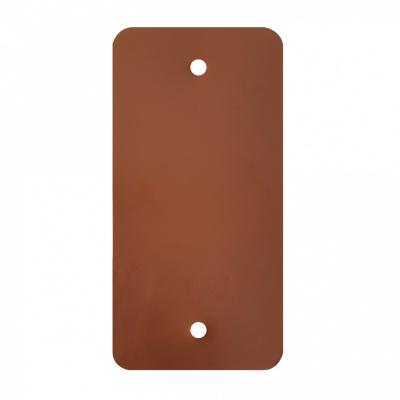 Foto van PVC labels bruin - 64 x 118 mm
