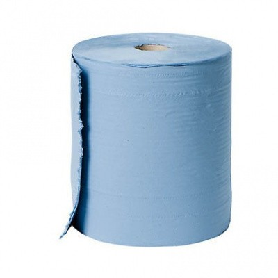Foto van Poetspapier 3-laags Bigcel recycled tissue 37cm x 380 mtr.