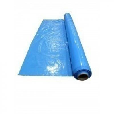 Foto van LDPE matrashoezen blauw - 196 x 260 cm x 50 my
