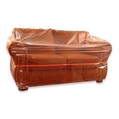 Foto van Plastic meubelhoezen 350 x 130 cm - LDPE transparant 50 my