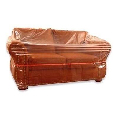 Foto van Plastic meubelhoezen 300 x 130 cm - LDPE transparant 50 my