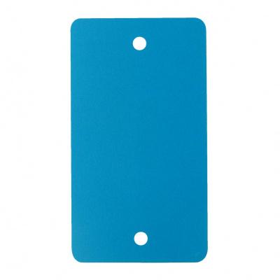 Foto van PVC labels aqua blauw - 54 x 108 mm
