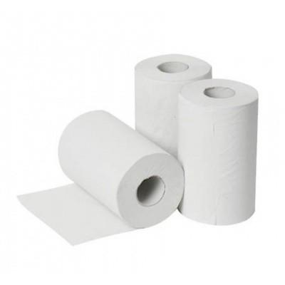 Foto van Handdoekpapier 1-laags Minirec wit 20cm x 120mtr.